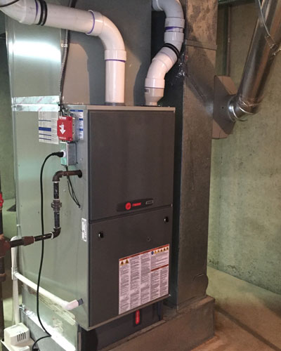 Basement Trane Air Handler Installation