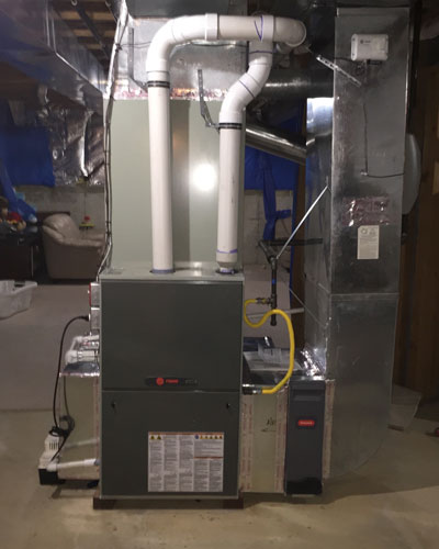 Basement Trane Complete System Installation