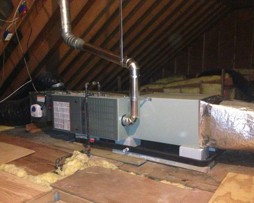 Attic Air Handler Installation