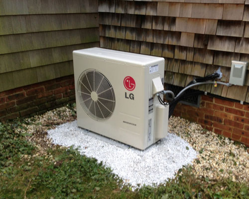 Exterior LG Split Unit Installation