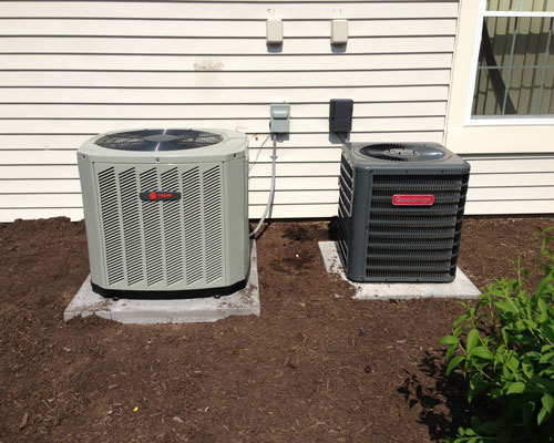 Exterior Trane and Goodman Unit Installation