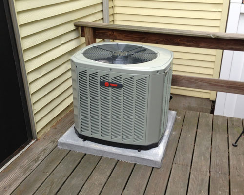 Exterior Trane Unit Deck Installation