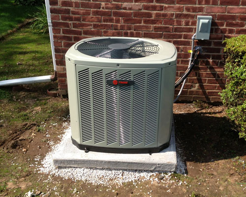 Exterior Trane Unit Installation